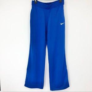 Nike Women's Medium Dri-fit Blue & White Zip Pants